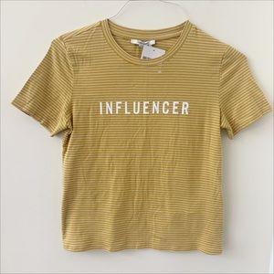 Forever 21 NWT Influencer Short Sleeve Shirt